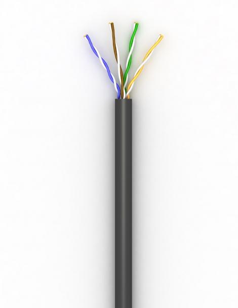 Lan-кабель КПП-ВП (100) 4х2х0,51 (U/UTP-cat.5E)