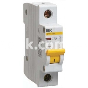 Автоматический выключатель ВА47-29 1Р 63А 4,5кА х-ка С