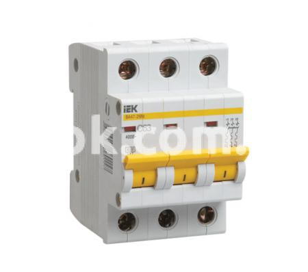 Автоматический выключатель ВА47-29 3Р 20А 4,5кА х-ка С