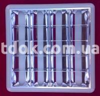 Светильник растровый внешний 600х600, зеркало