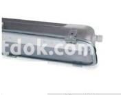 Светильник подвесной люминисцентный Rino 2х18w IP65 оцинкованная сталь, 847102 Palazzoli