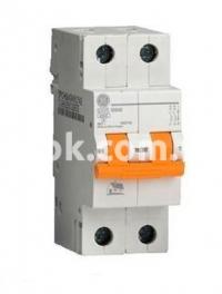 Автоматический выключатель GE DG 2 полюси C 10А