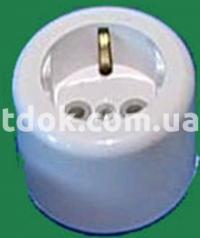 Розетка одинарная открытой проводки РА 16-089