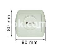 Розетка одинарная РС10-163 УТОС