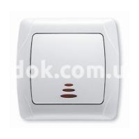 Выключатель одноклавишный с подсветкой CARMEN CR-1619