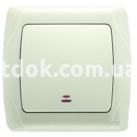 Выключатель одноклавишный с подсветкой CARMEN CR-2619