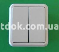 Выключатель двухклавишный С2-039 Крымпласт