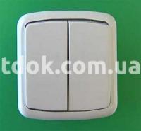 Выключатель двухклавишный С2-6-139 Крымпласт