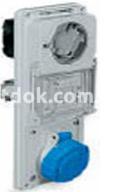 Панель TER IP55 с блокирующим гнездом 2P+E 16A 220В Рalazolli 480126
