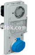Панель TER IP55 с блокирующим гнездом 3P+E 16A 380В Рalazolli 480136