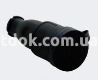Розетка переносная с заглушкой 1x16A (каучук) 31.01.304.0300