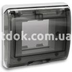 Рамка двухмодульная с прозрачной крышкой, IP44, белый, AVE 45SPQ02BB