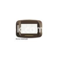 Рамка BANQUISE металлическая,  трехмодульная, бронзовый металик, глянцевая, AVE 45PB93BZ