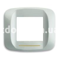 Рамка BANQUISE металлическая с подсветкой,  двухмодульная светло-белый, AVE 45PB92BMC