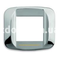 Рамка BANQUISE металлическая с подсветкой,  двухмодульная, хром, AVE 45PB92CR