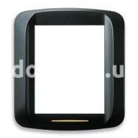 Рамка BANQUISE металлическая с подсветкой,  3+3 модулей, чёрный, матовый, AVE 45PB933NO