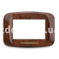 Рамка BANQUISE металлическая с подсветкой,  трехмодульная, дерево шиповника, AVE 45PB93RD