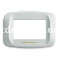Рамка BANQUISE металлическая с подсветкой,  трехмодульная, светло-белый, AVE 45PB93BMC