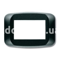 Рамка BANQUISE металлическая с подсветкой,  трехмодульная, тёмный металик, AVE 45PB93GSM