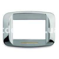 Рамка BANQUISE металлическая с подсветкой,  трехмодульная, хром, AVE 45PB93CR