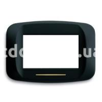 Рамка BANQUISE металлическая с подсветкой,  трехмодульная, чёрный, матовый, AVE 45PB93NO