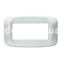 Рамка BANQUISE металлическая с подсветкой,  четырехмодульная, светло-белый, AVE 45PB94BMC