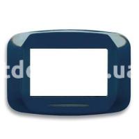 Рамка BANQUISE металлическая с подсветкой,  четырехмодульная, светло-синий, AVE 45PB94AZM