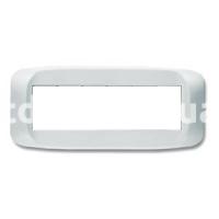 Рамка BANQUISE металлическая с подсветкой,  шестимодульная, светло-белый, AVE 45PB96BMC