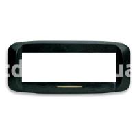 Рамка BANQUISE металлическая с подсветкой,  шестимодульная, чёрный матовый, AVE 45PB96NO