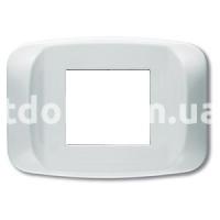 Рамка BANQUISE  двухмодульная, белый, AVE 45PB02BB