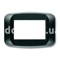 Рамка BANQUISE  двухмодульная, тёмный металик, AVE 45PB02GSM