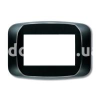Рамка BANQUISE  двухмодульная, чёрный, глянцевый, AVE 45PB02NL
