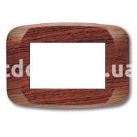 Рамка BANQUISE  трехмодульная, грецкий орех, AVE 45PB03LNC