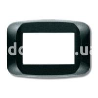 Рамка BANQUISE  трехмодульная, тёмный металик, AVE 45PB03GSM