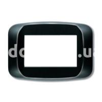 Рамка BANQUISE  трехмодульная, чёрный глянцевый, AVE 45PB03NL