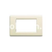 Рамка Blanc  трехмодульная, бежевый, AVE 45P63