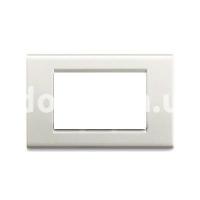 Рамка Blanc  трехмодульная, серый металик, AVE 45P73