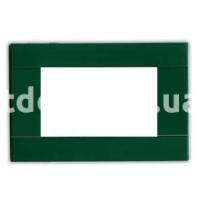 Рамка RAL  двухмодульная, зелёный, глянцевая, AVE 45P02VI