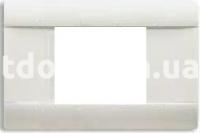 Рамка RAL  двухмодульная, серая, глянцевая, AVE 45P02R