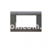 Рамка RAL  двухмодульная, темно-серый, глянцевая, рифлёная, AVE 45P02GN