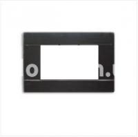 Рамка RAL  двухмодульная, чёрный, глянцевая, AVE 45P02NL