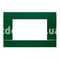 Рамка RAL  трехмодульная, зеленый, глянцевая, AVE 45P03VI