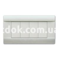 Рамка RAL  четырехмодульная, белый, AVE 45P04BG
