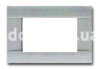 Рамка RAL  четырехмодульная, серая, AVE 45P04R