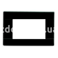 Рамка RAL  шестимодульная, черный глянцевая, AVE 45P06NL