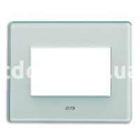 Рамка VERA трехмодульная, стекло матовое, бледно-зелёный, AVE 45PV3VO
