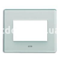 Рамка VERA трехмодульная, стекло, бледно-зелёный, AVE 45PV3VL