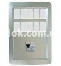 Рамка YES Maxi с DIN рейкой  5+5+6DIN модулей, белый, AVE 45PY10DINBB