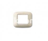 Рамка YES квадратная,  двухмодульная, бежевый, AVE 45P22BP