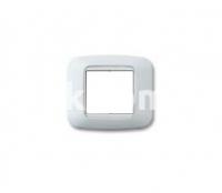 Рамка YES квадратная,  двухмодульная, белый, AVE 45P22BB